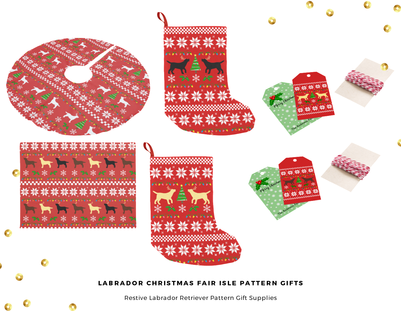 Christmas Labrador Retriever Fair Isle Pattern Gift Ideas -- Home Decor, Gift Supplies, Apparel @zazzle