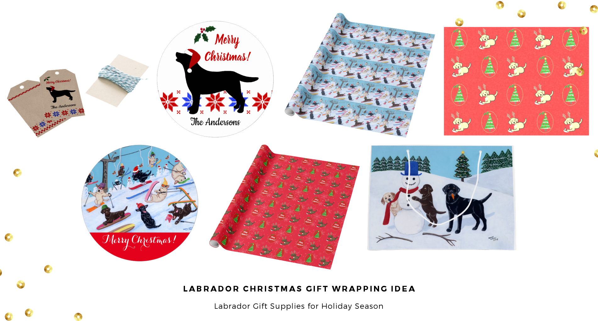 Labrador Retriever Christmas Gift Wrapping Supplies by HappyLabradors @zazzle