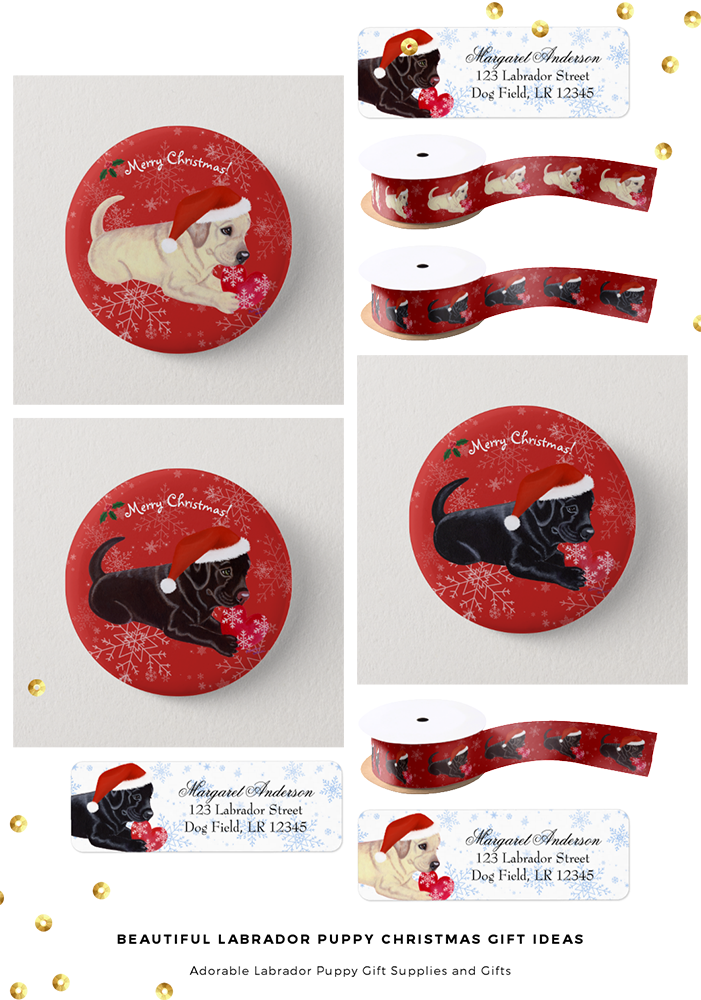 Beautiful Christmas Puppy Gift Ideas by HappyLabradors @zazzle