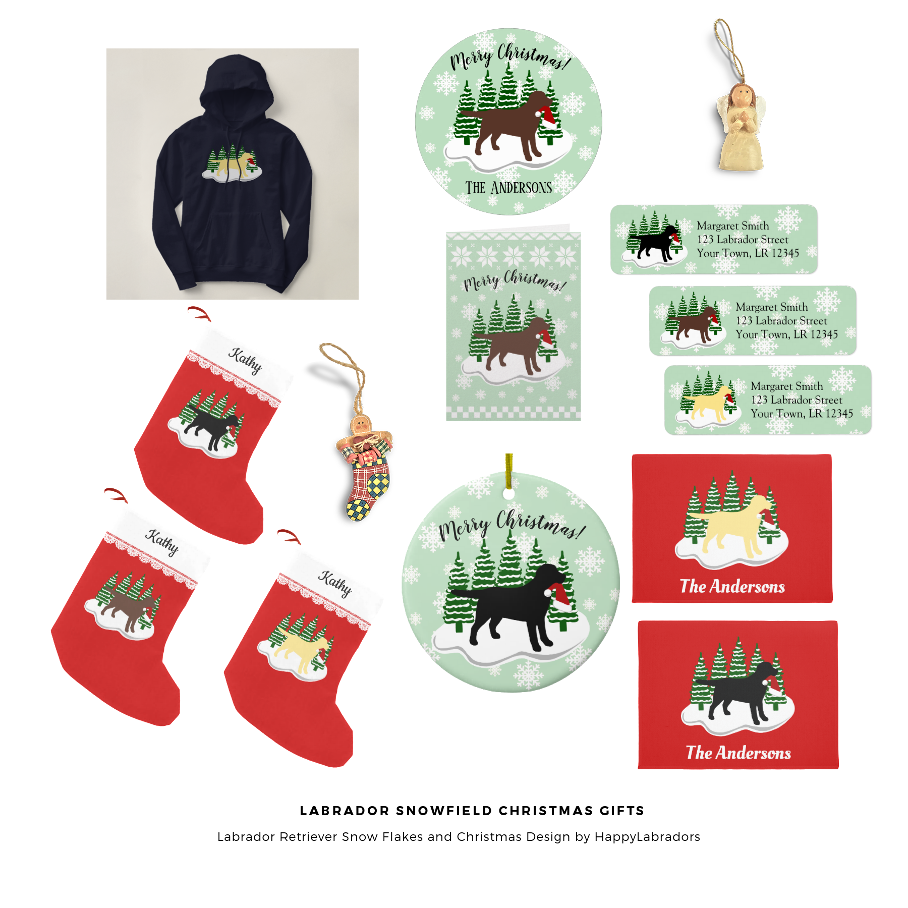 Labrador Snowfield Christmas Gift Ideas by HappyLabradors @zazzle