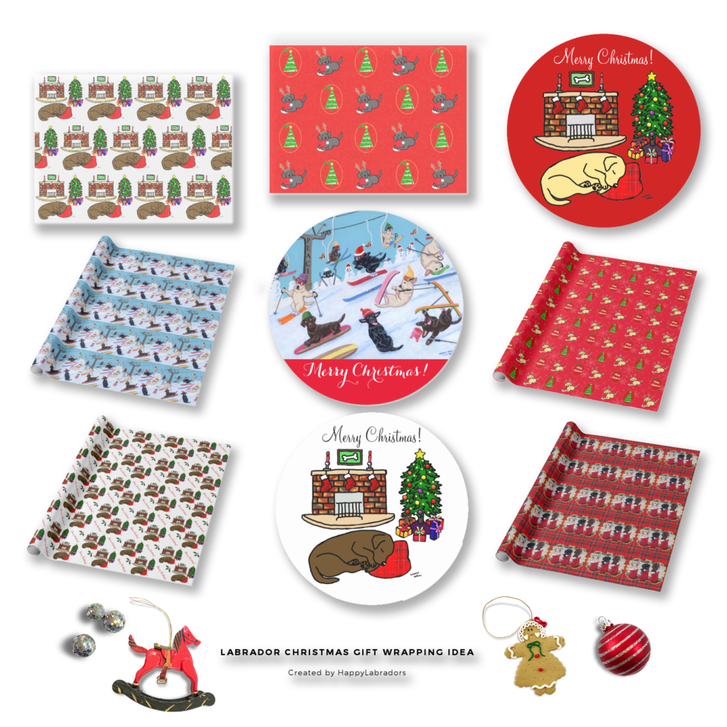 Labrador Retriever Christmas Gift Wrapping Supplies by HappyLabradors