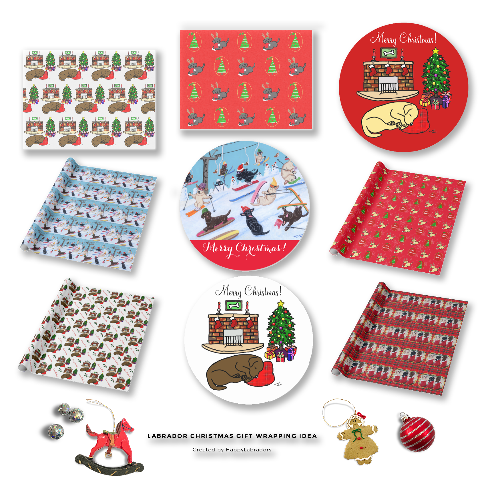 Labrador Retriever Christmas Gift Wrapping Ideas by HappyLabradors @zazzle