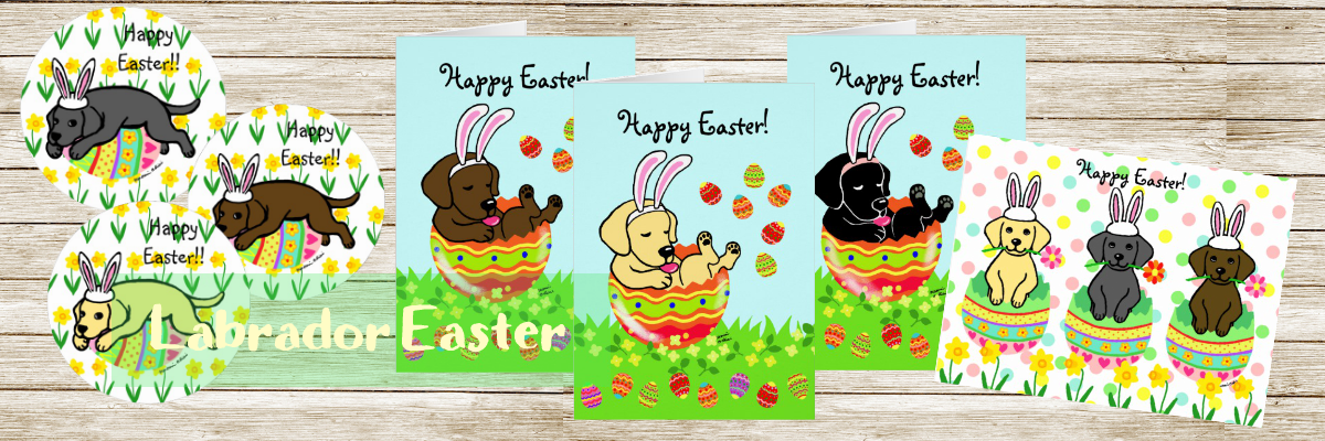 Cute Labrador Retriever Easter Greeting Cards and Stationery and more by Happylabradors @zazzle
