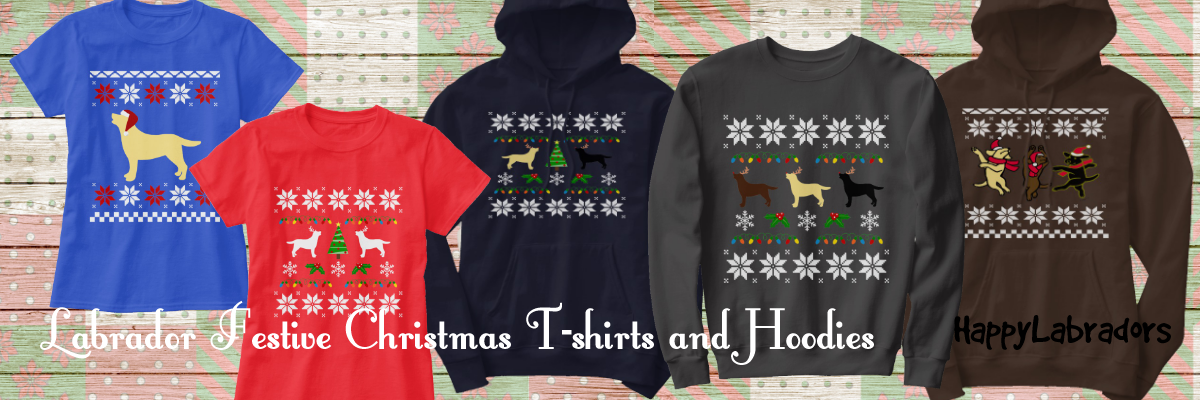Labrador Festive Christmas T-shirts and Hoodies in Zazzle