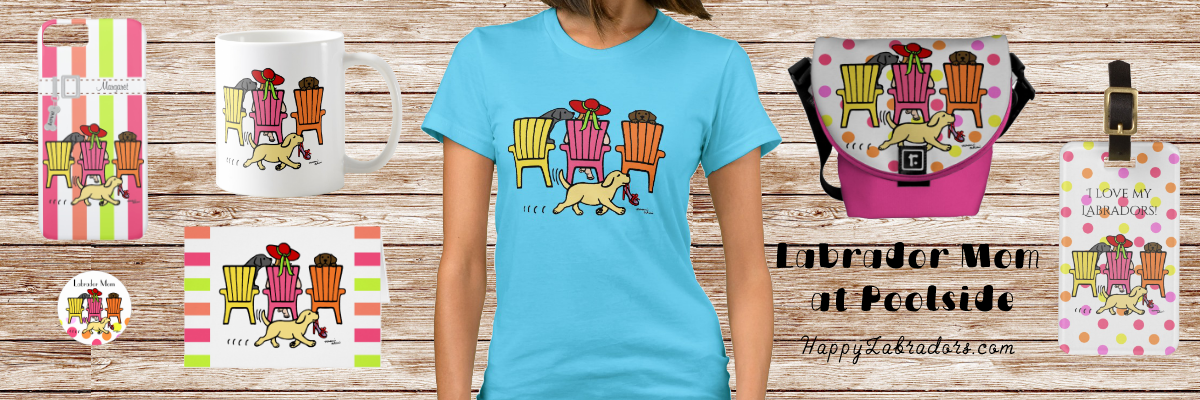 Funny Labrador Mom at Poolside Gift Collection @zazzle