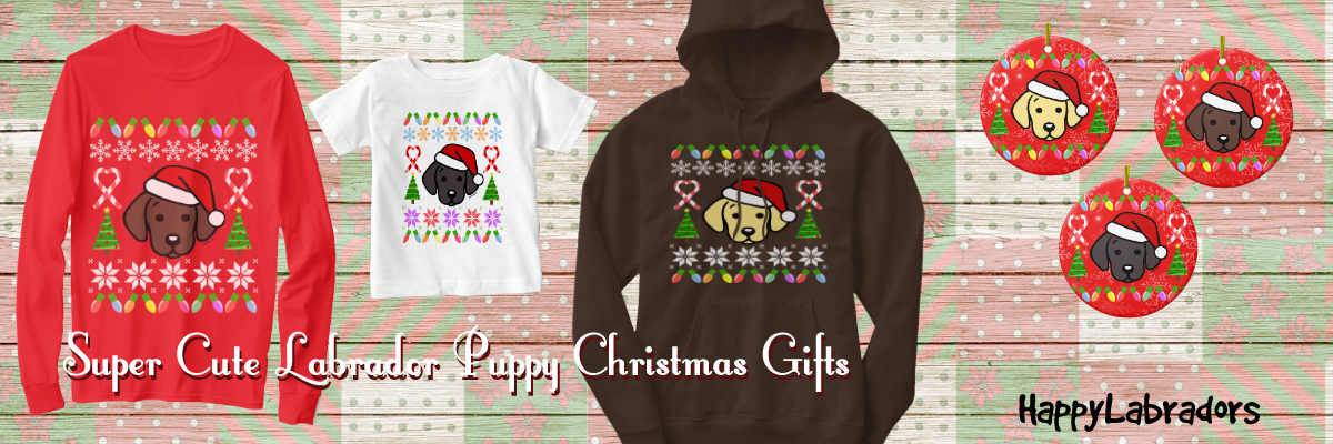 Super Cute Labrador Puppy Santa Christmas Collection by HappyLabradors