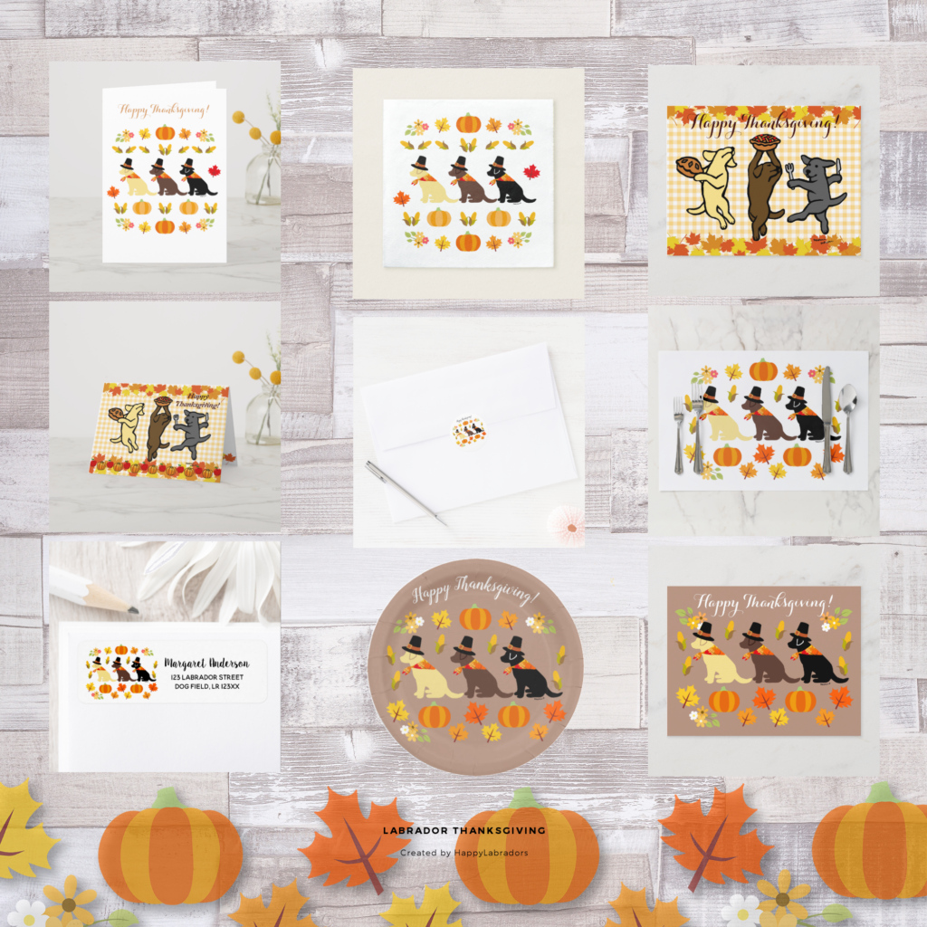 Labrador Retriever Thanksgiving Collection by HappyLabradors