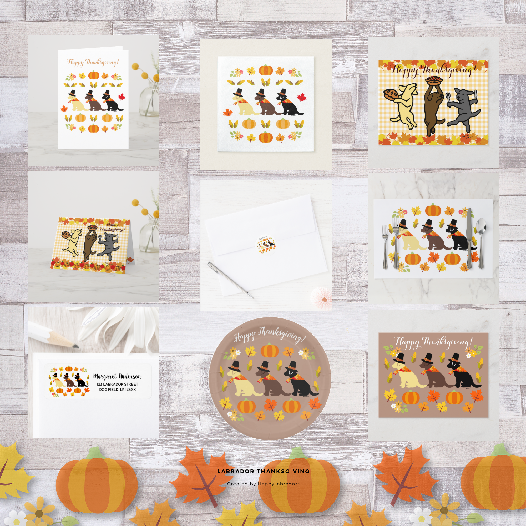 Labrador Retriever Thanksgiving Collection by HappyLabradors @zazzle