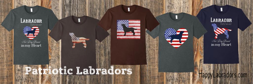 Patriotic Labrador T-shirts by HappyLabradors