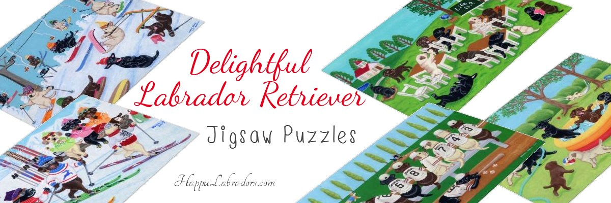 Cute Labrador Retriever Jigsaw Puzzle Collection in Zazzle