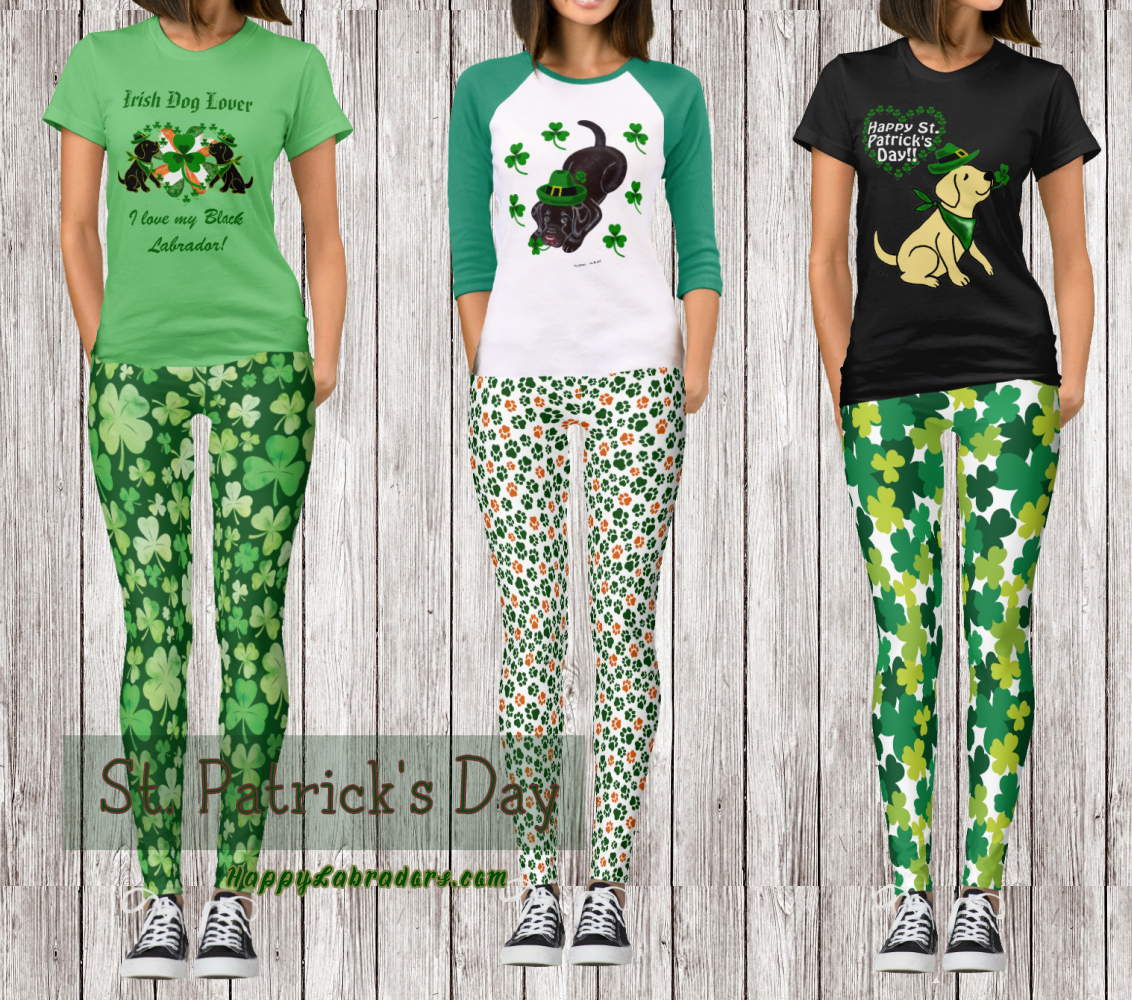 Labrador St. Patrick's Day Shirts and Leggings