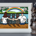 Labrador Retriever Custom Memorial Print by HappyLabradorsCrew