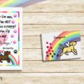 Trotting Labrador Angel Rainbow Bridge Art by HappyLabraors