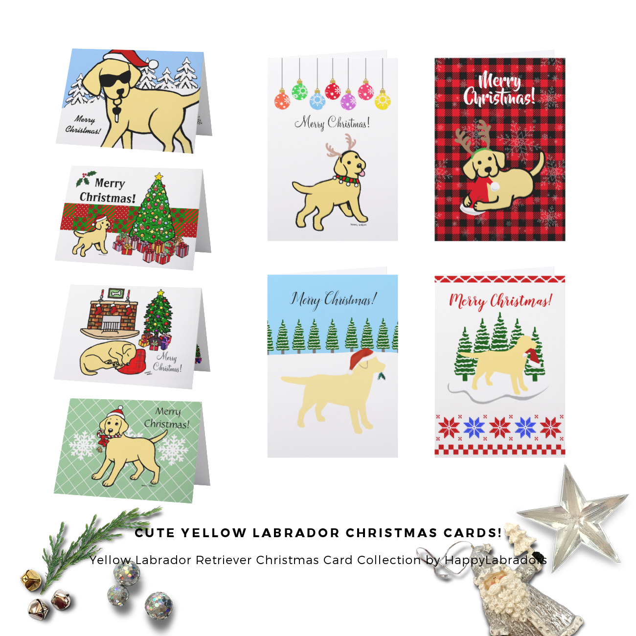 Yellow Labrador Retriever Christmas Card Collection by HappyLabradors @zazzle